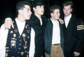 New Kids On The Block Danny Wood Jordan Knight Joey McIntyre and Donnie Wahlberg circa 1990