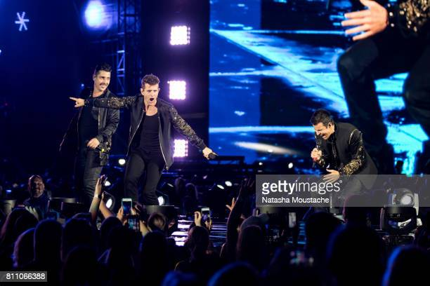 New Kids On The Block perform onstage at Fenway Park on July 8 2017 in Boston