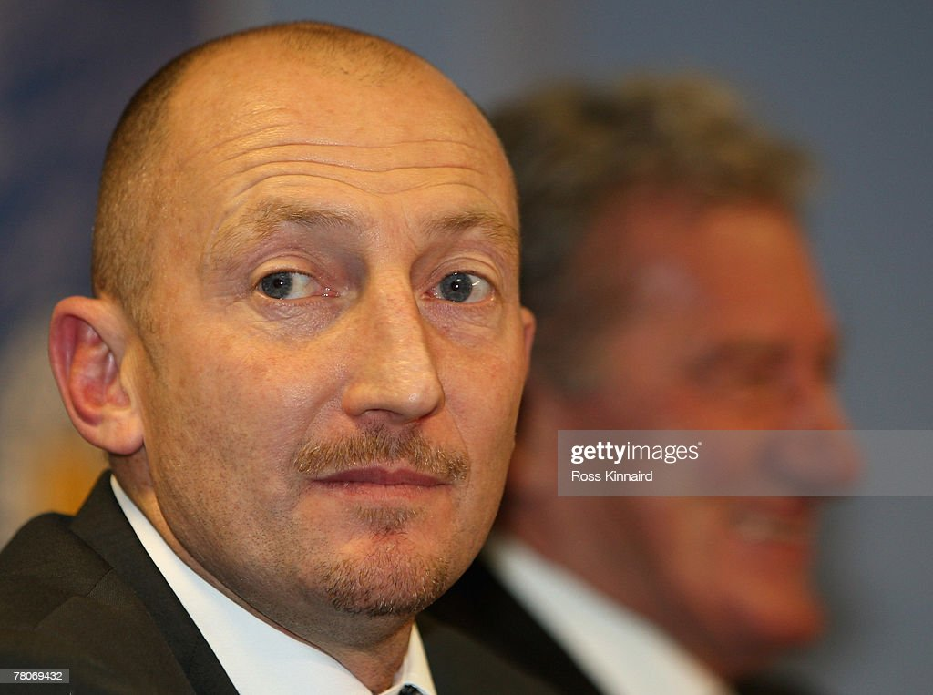 New Leicester City manager Ian Holloway during a press conference called at the Walkers Stadium on November 22, 2007 in Leicester, England.
