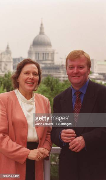 New Liberal Democrat Leader Charles Kennedy with Susan Kramer in London on the announcement of her candidacy as the Liberal Democrat candidate for...