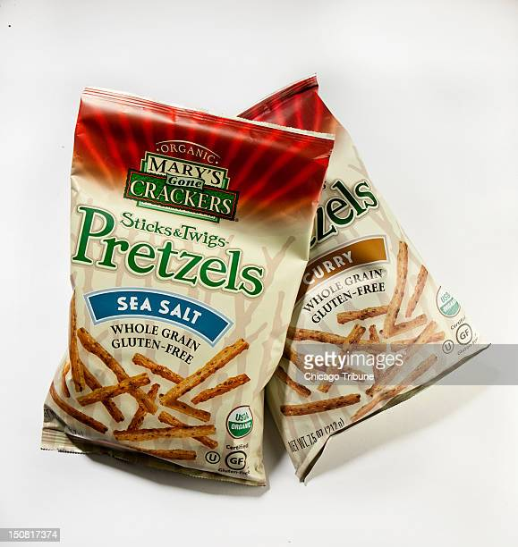 A new line of stick pretzels made by the Mary's Gone Crackers team boasts a trio of flavors lots of grains and a glutenfree certification