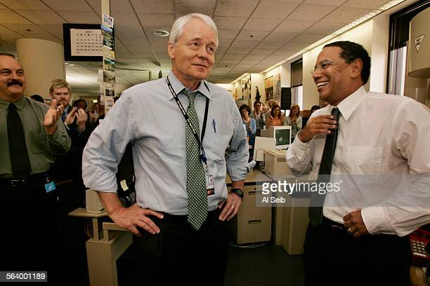 LOS ANGELES CA New Los Angeles Times Editor In the Los Angeles Times newsroom Wednesday Los Angeles Times Editor John S Carroll announces his...