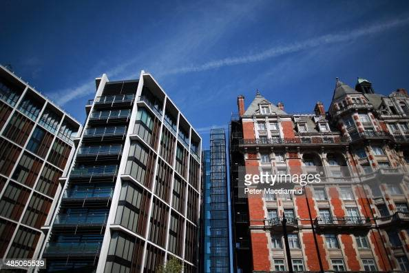 A new luxury penthouse development at One Hyde Park is located next to The Hyde Park Hotel in Knightsbridge on April 16 2014 in London England The...