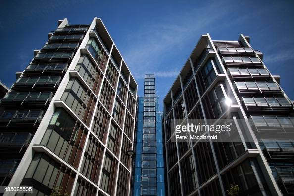 A new luxury penthouse development at One Hyde Park reflects the sunshine in Knightsbridge on April 16 2014 in London England The capital continues...