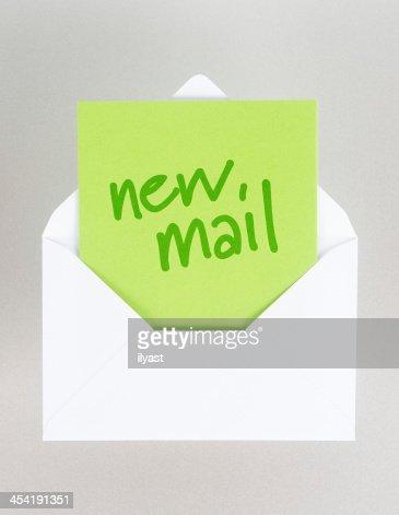 Nuova e-Mail : Foto stock