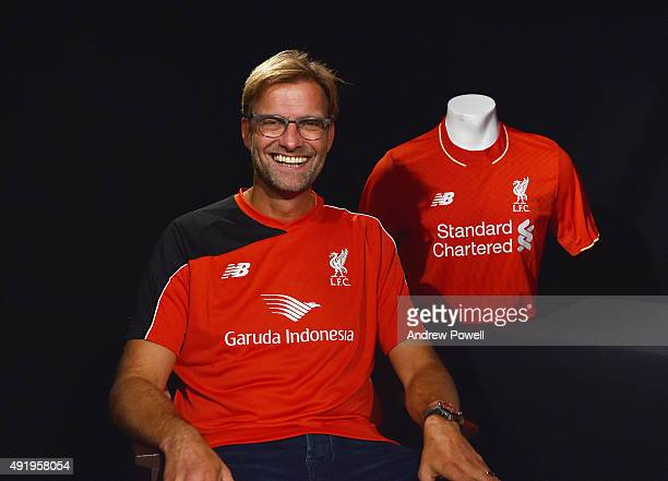 New Manager of Liverpool Jurgen Klopp poses for a photograph on October 8 2015 in Liverpool England