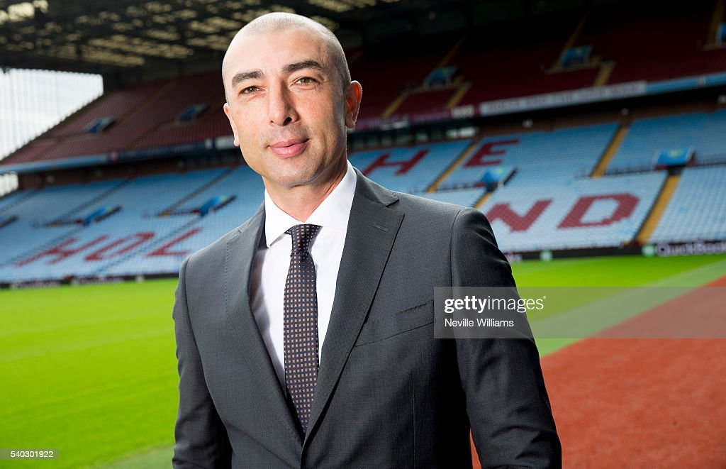 New manager <a gi-track='captionPersonalityLinkClicked' href=/galleries/search?phrase=Roberto+Di+Matteo&family=editorial&specificpeople=2380083 ng-click='$event.stopPropagation()'>Roberto Di Matteo</a> of Aston Villa poses for a picture at Villa Park on June 15, 2016 in Birmingham, England.