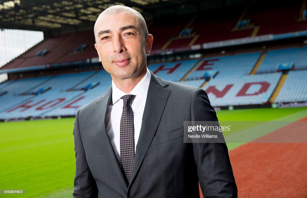 New Aston Villa manager Roberto Di Matteo Photocall