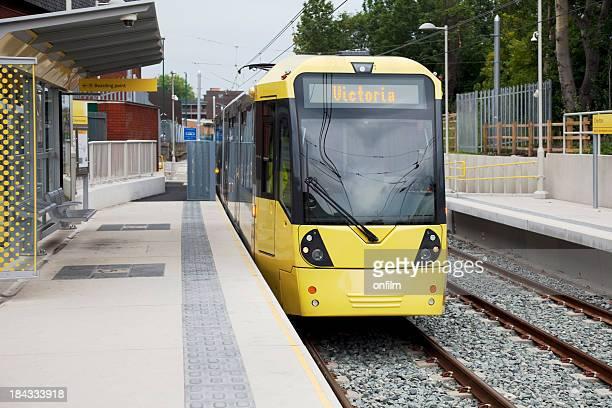 Manchester, nouvelle station de tramway Metrolink