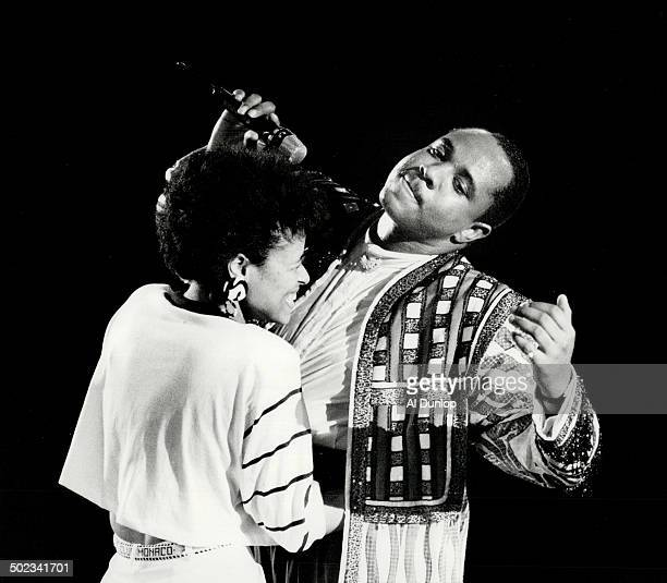New meaning to an old routine Freddie Jackson last night brought a young woman named Camille from the audience and used her as a foil for an...
