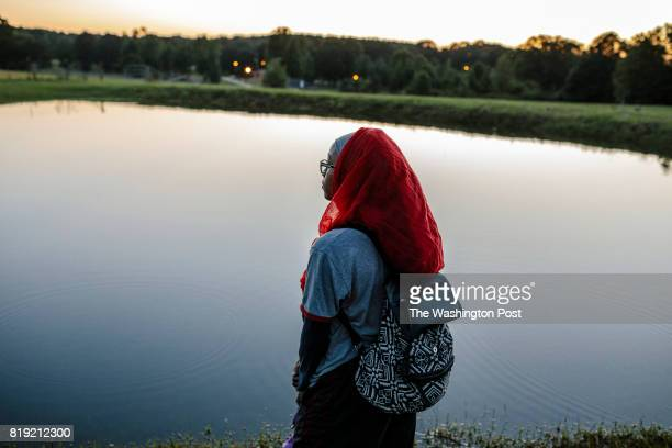 New Medinah MS May 26 2017 Aaqila AbdulBaaqee watches the sun set and waits for the first sighting of the Ramadan moon at the end of the first day of...