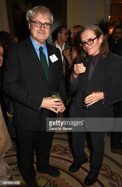 New member Simon Curtis and guest attend The Academy Of Motion Pictures Arts Sciences new members reception hosted by Ambassador Matthew Barzun and...