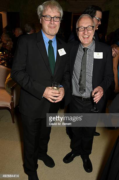 New members Simon Curtis and Mick Audsley attend The Academy Of Motion Pictures Arts Sciences new members reception hosted by Ambassador Matthew...