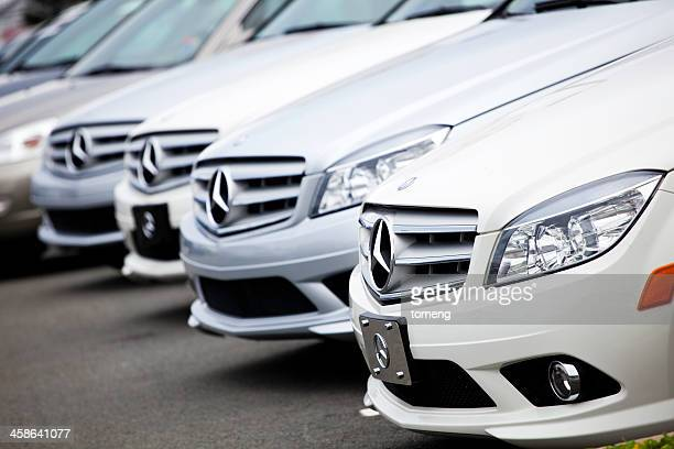 New Mercedes Benz Vehicles in a Row