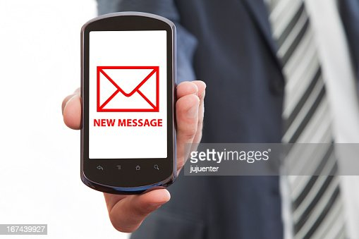 new message : Stock Photo