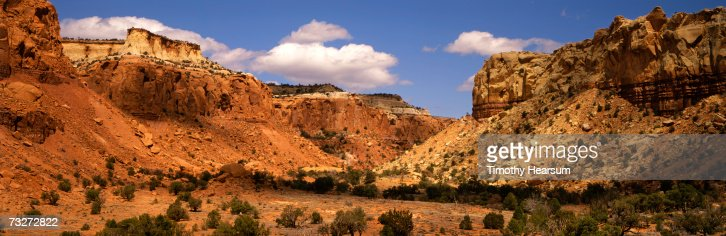 'USA, New Mexico, Ghost Ranch near Abiquiu, red rock formations'