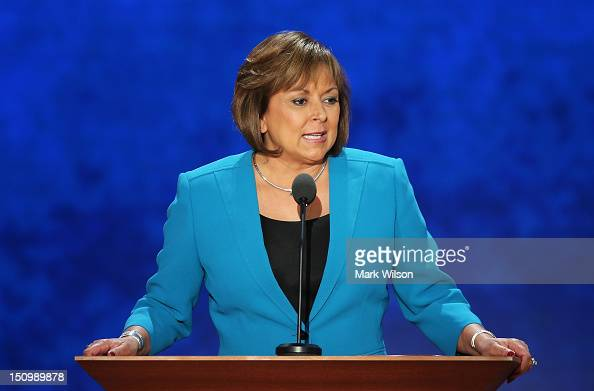 New Mexico Gov Susana Martinez speaks during the third day of the Republican National Convention at the Tampa Bay Times Forum on August 29 2012 in...