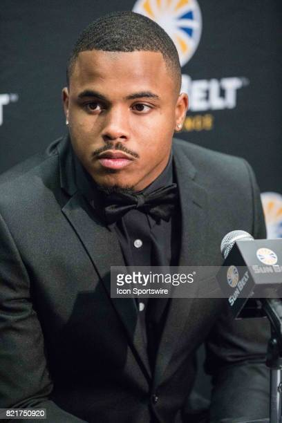 New Mexico State defensive back Jaden Wright interacts with media during the Sun Belt Media Day on July 24 2017 at the MercedesBenz Superdome on