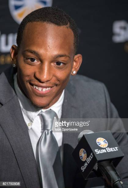 New Mexico State running back Larry Rose III interacts with media during the Sun Belt Media Day on July 24 2017 at the MercedesBenz Superdome on