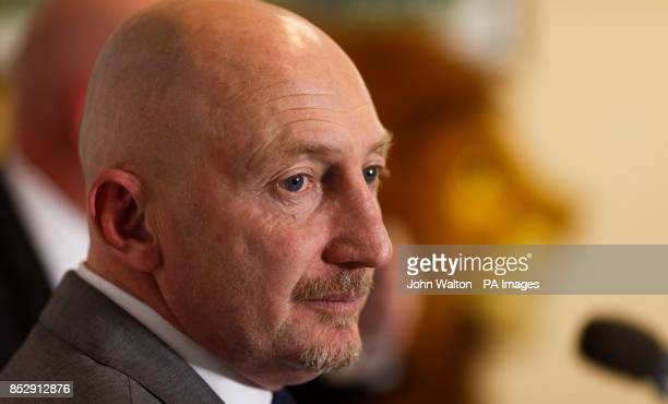 New Millwall manager Ian Holloway during the press conference at The New Den London