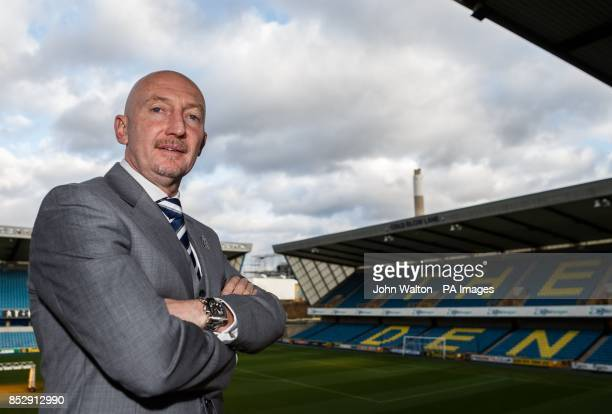 New Millwall manager Ian Holloway poses for the potographer before the press conference at The New Den London