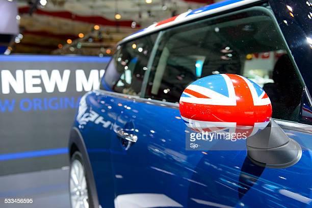 New Mini compact hatchback car detail
