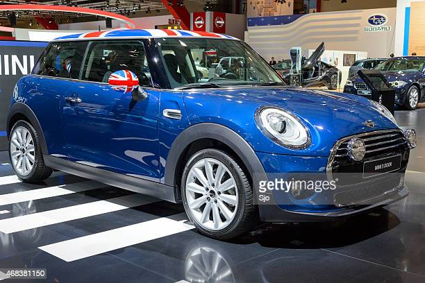 New Mini compact hatchback car front view