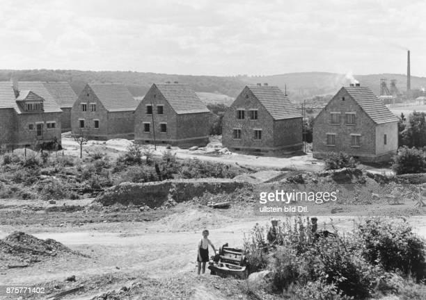 New mining town in Altenwald near coalmine Reden