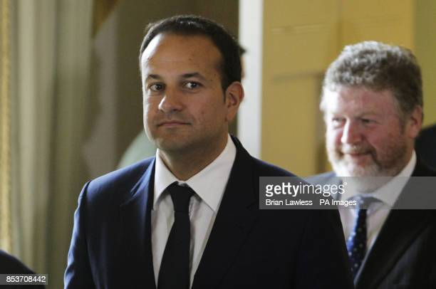 New Minister for Health Leo Varadkar and new Minister for Children and Youth Affairs James Reilly prior to receiving their Ministerial Seals of...