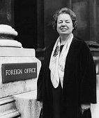 New Minister of State for Foreign Affairs Eirene Lloyd White outside the Foreign Office London April 6th 1966