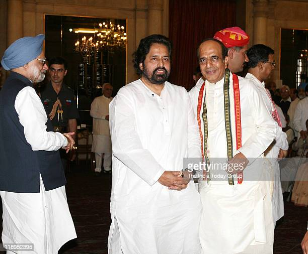 New Minister of State for Health and Family Welfare Sudip Bandyopadhyay and new Railways Minister Dinesh Trivedi during oath taking ceremony of new...