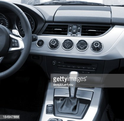 new modern car interiour (air condition, automatic)