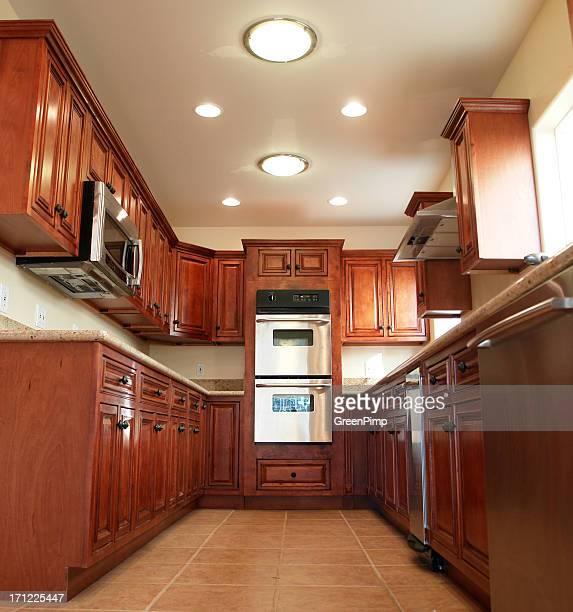 Nouvelle maison moderne cuisine lumière du soleil