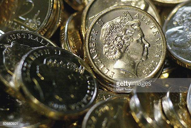 New money awaits counting and bagging at the Royal Australian Mint April 22 2005 in Canberra Australia The Royal Australian Mint celebrated its 40th...