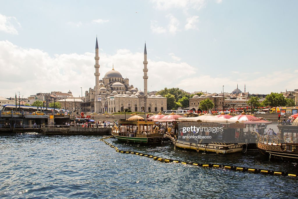 New Mosque and boats