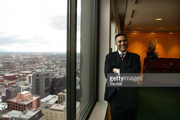 New National Australia Bank CEO Ahmed Fahour 11 August 2004 The AGE NEWS Picture By NICOLE EMANUEL