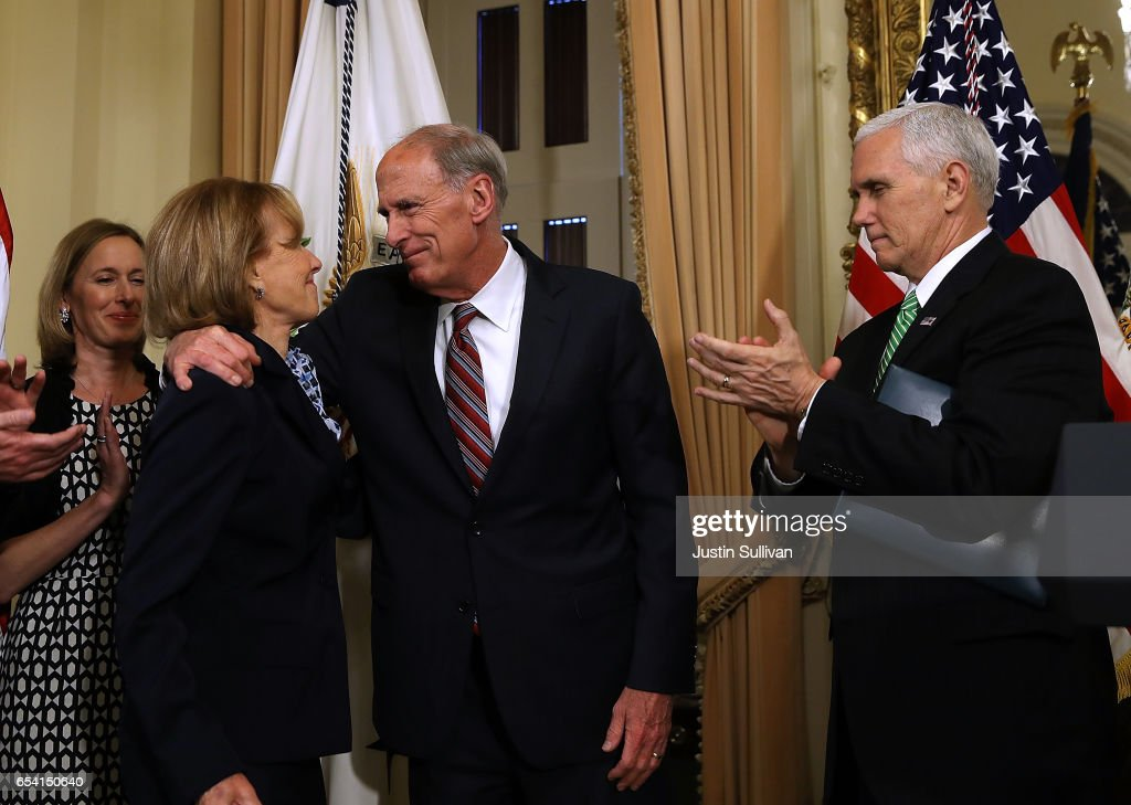 VP Mike Pence Swears In Dan Coats As Director Of National Intelligence