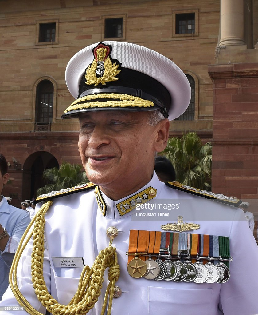 New Navy Chief Admiral Sunil Lanba took charge as the Chief of Naval Staff at South Block on May 31, 2016 in New Delhi, India. Earlier this month the government appointed Lanba, the Flag Officer Commanding-in-Chief, Western Naval Command as the Chief of Naval Staff. Admiral Lanba, 58, is a qualified specialist in navigation and direction course and will have a full three-year-term in office till May 31, 2019.