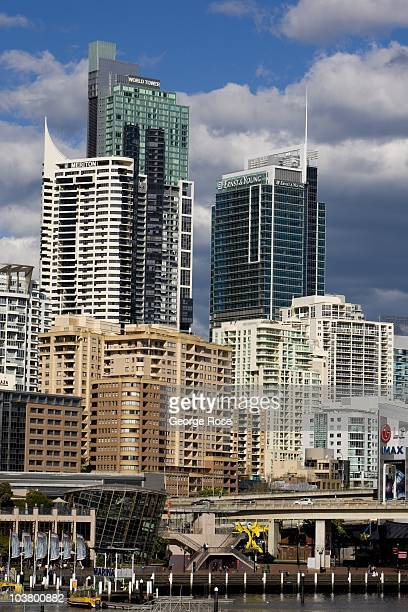 New office buildings and condominiums in Darling Harbour on August 10 2010 Sydney Australia Sydney a major destination for global travelers was the...