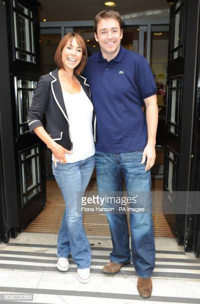 New One Show presenters Alex Jones and Jason Manford stand outside Western House London after appearing on Chris Evanss Radio 2 breakfast show