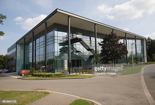 New one zero one building housing modern hightech businesses located in Cambridge Science park Cambridge England founded by Trinity College in 1970...