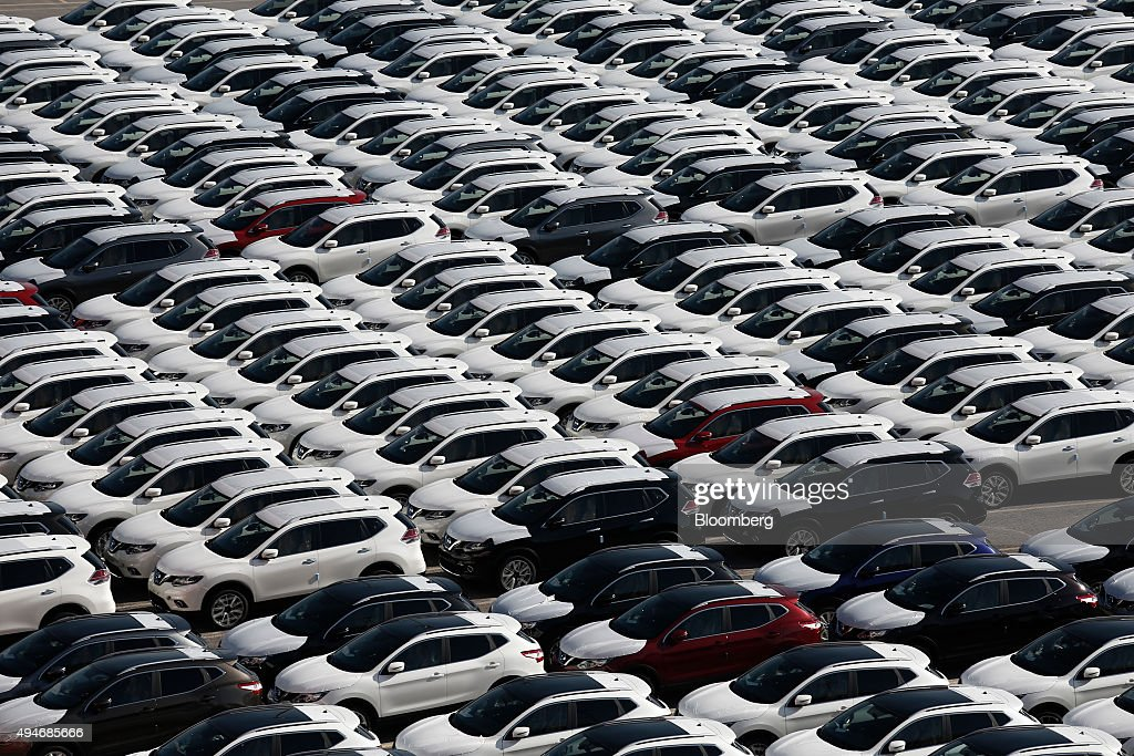 New Opel automobiles manufactured by Adam Opel AG sit with other marques on the dockside before export at the car terminal in the Port of Piraeus...