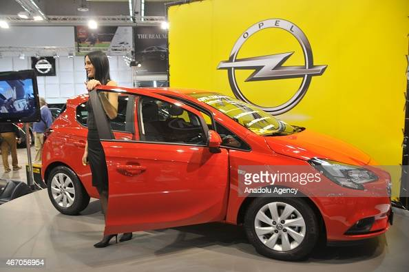 New Opel Corsa is seen during the Belgrade Car Fair in Belgrade Serbia on March 20 2015