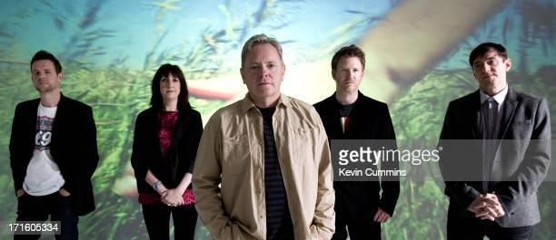 New Order pose for a studio group portrait UK 22nd September 2011 Left to right Tom Chapman Gillian Gilbert Bernard Sumner Phil Cunningham and...