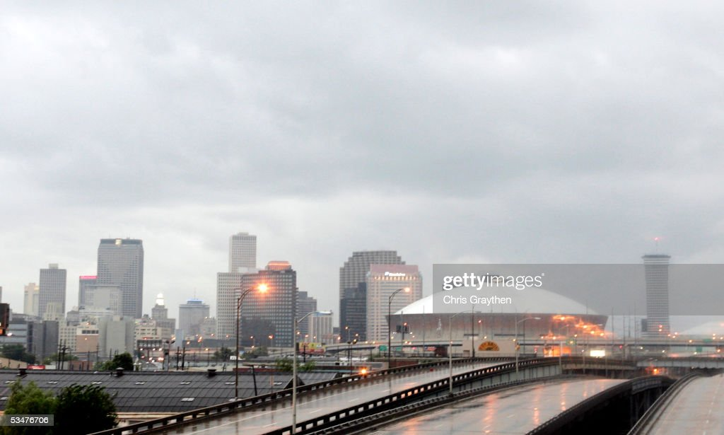 New Orleans appears deserted in expectation of Hurricane Katrina on August 28, 2005 in New Orleans. Hurricane Katrina has sustained winds of 175 mph and is expected to make landfall in the Gulf Coast as early as August 29. A state of emergency has been declared for Louisiana as the Category 5 storm approaches.