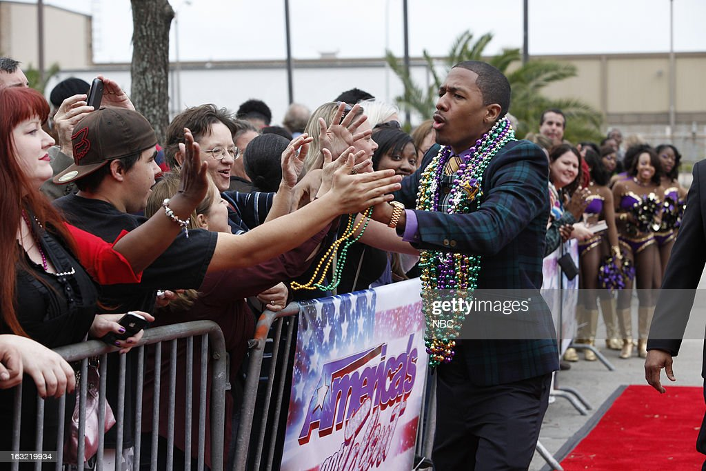 S GOT TALENT -- New Orleans Auditions -- Pictured: <a gi-track='captionPersonalityLinkClicked' href=/galleries/search?phrase=Nick+Cannon&family=editorial&specificpeople=202208 ng-click='$event.stopPropagation()'>Nick Cannon</a> --