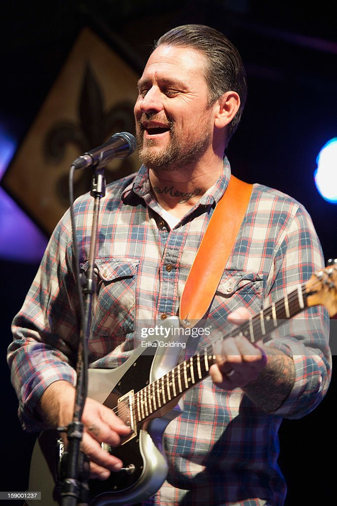 New Orleans based singer-songwriter Eric Lindell performs at Tipitina's on January 4, 2013 in New Orleans, Louisiana.