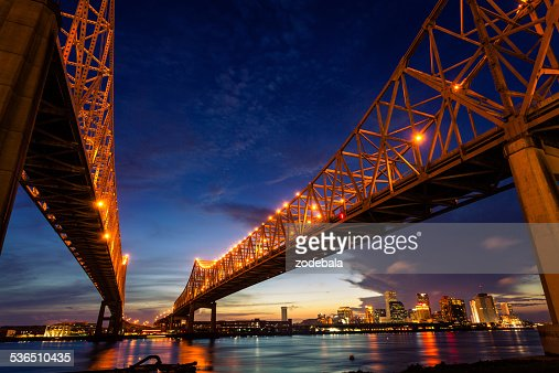 New Orleans Cityscape at Night, Louisiana, USA