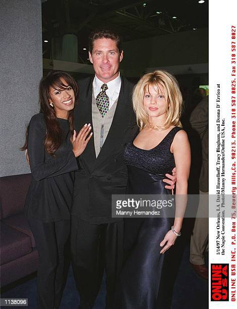 New Orleans LA David Hasselhoff Traci Bingham and Donna D''Errico at the Napie Convention