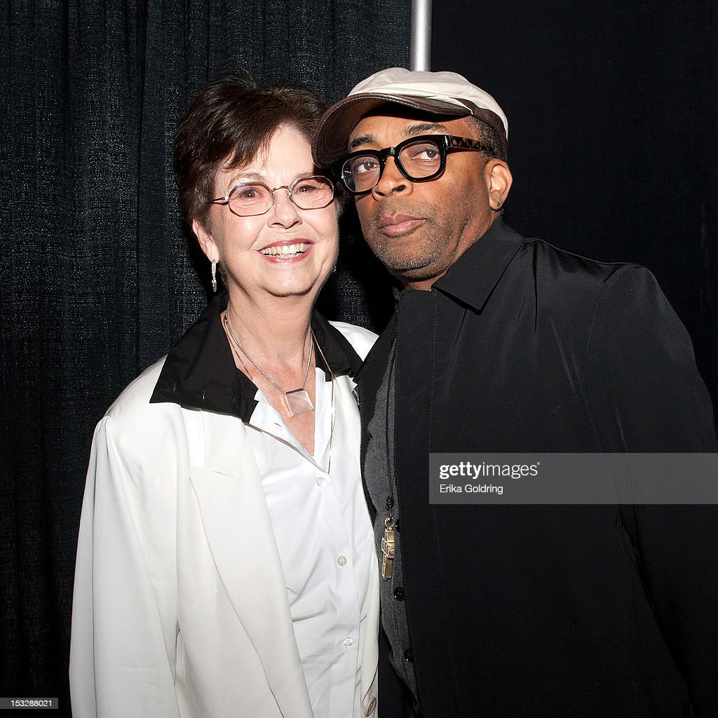 New Orleans jewerly designer Mignon Faget and Amerian film director Shelton Jackson 'Spike' Lee attend the 'Flip the Script' Public Awareness campaign launch at The Joy Theater on October 2, 2012 in New Orleans, Louisiana.
